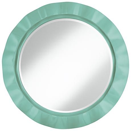 "Rapture Blue 32"" Round Brezza Wall Mirror"