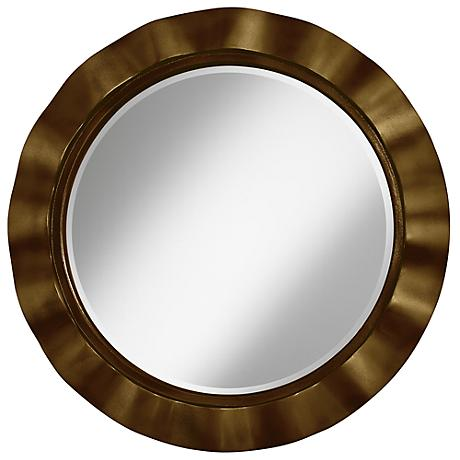 "Bronze Metallic 32"" Round Brezza Wall Mirror"