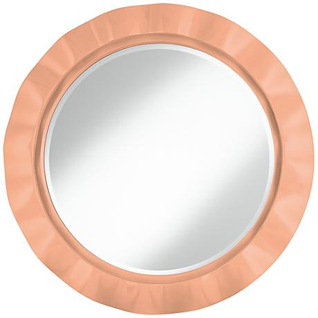 "Mellow Coral 32"" Round Brezza Wall Mirror"