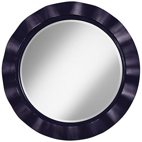 "Midnight Blue Metallic 32"" Round Brezza Wall Mirror"