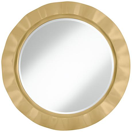 "Humble Gold 32"" Round Brezza Wall Mirror"