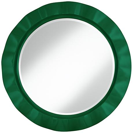 "Greens 32"" Round Brezza Wall Mirror"