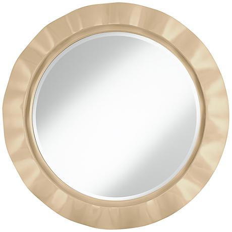 "Colonial Tan 32"" Round Brezza Wall Mirror"
