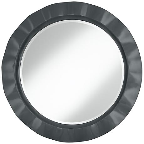 "Black of Night 32"" Round Brezza Wall Mirror"