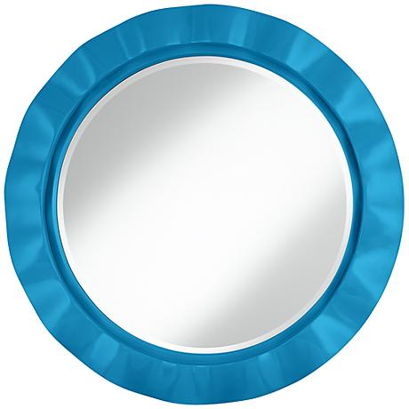 "River Blue 32"" Round Brezza Wall Mirror"