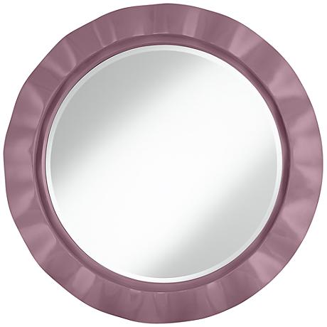 "Plum Dandy 32"" Round Brezza Wall Mirror"