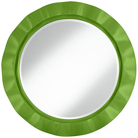 "Rosemary Green 32"" Round Brezza Wall Mirror"