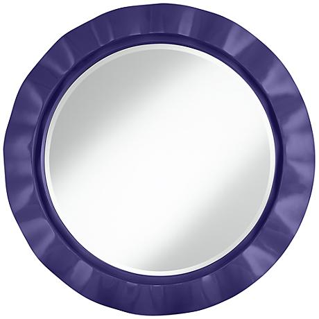 "Valiant Violet 32"" Round Brezza Wall Mirror"