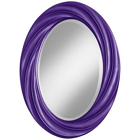 "Imperial Metallic 30"" High Oval Twist Wall Mirror"