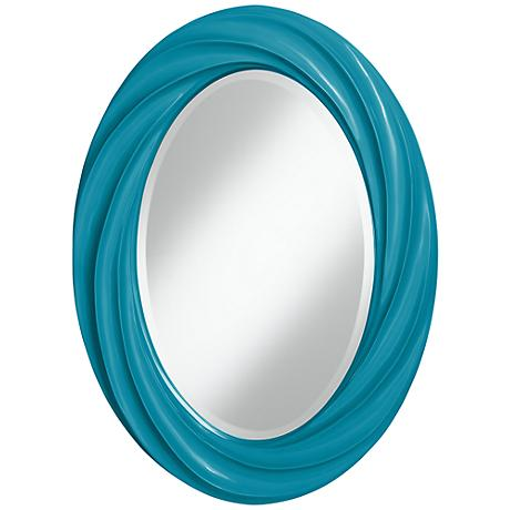 "Caribbean Sea 30"" High Oval Twist Wall Mirror"