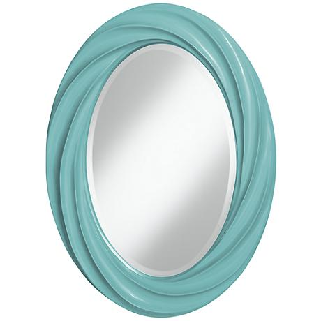 "Nautilus 30"" High Oval Twist Wall Mirror"