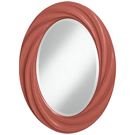 "Brick Paver 30"" High Oval Twist Wall Mirror"