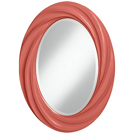 "Coral Reef 30"" High Oval Twist Wall Mirror"