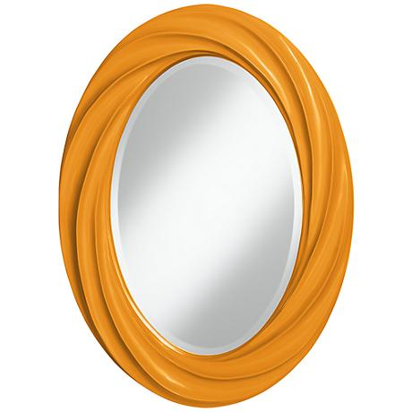 "Carnival 30"" High Oval Twist Wall Mirror"