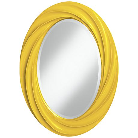 "Citrus 30"" High Oval Twist Wall Mirror"
