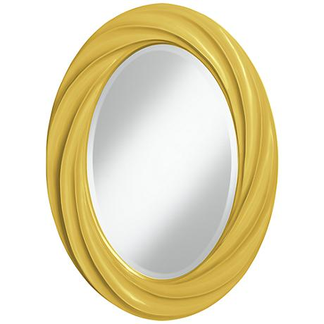 "Nugget 30"" High Oval Twist Wall Mirror"