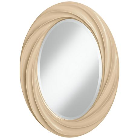 "Colonial Tan 30"" High Oval Twist Wall Mirror"