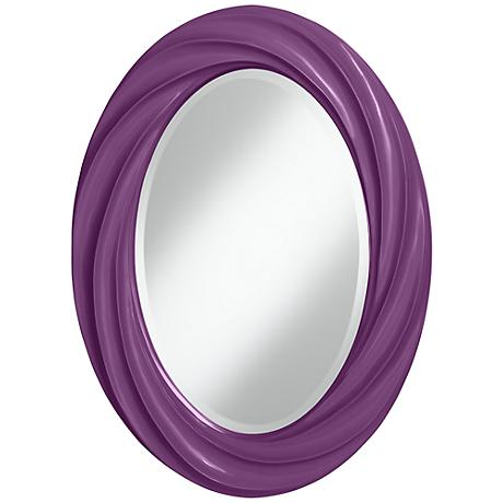 "Kimono Violet 30"" High Oval Twist Wall Mirror"