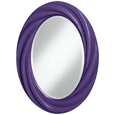 "Izmir Purple 30"" High Oval Twist Wall Mirror"