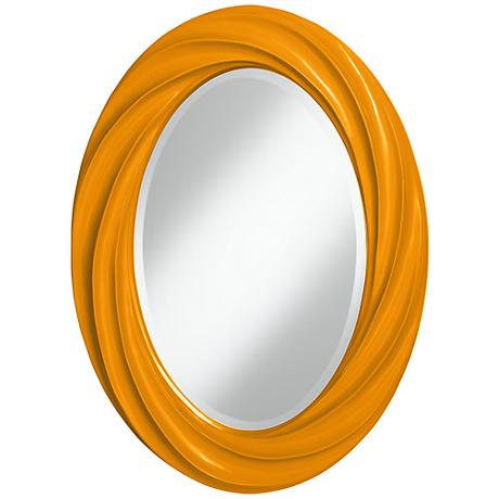 "Mango 30"" High Oval Twist Wall Mirror"