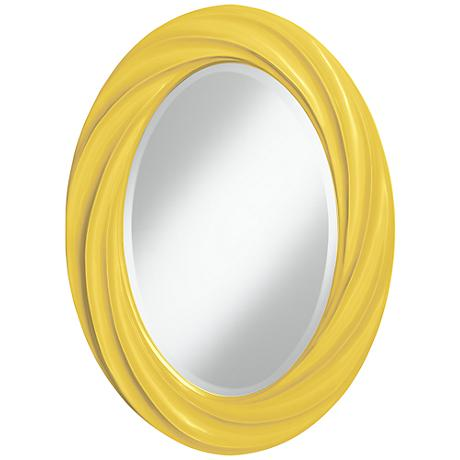 "Lemon Zest 30"" High Oval Twist Wall Mirror"