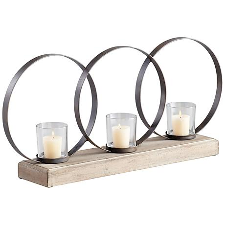 Ohhh 3 Candle Iron Votive Candle Holder