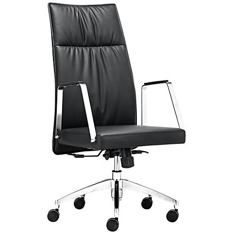 Zuo Dean Adjustable Black High Back Office Chair