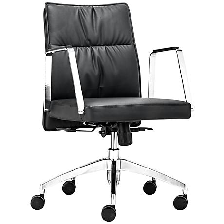 Zuo Dean Adjustable Black Low Back Office Chair