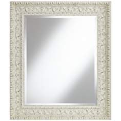 "Mylos Antique White 27 3/4"" x 31 3/4"" Wall Mirror"