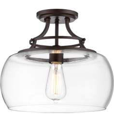 "Charleston 13 1/2"" Wide Clear Glass Ceiling Light"