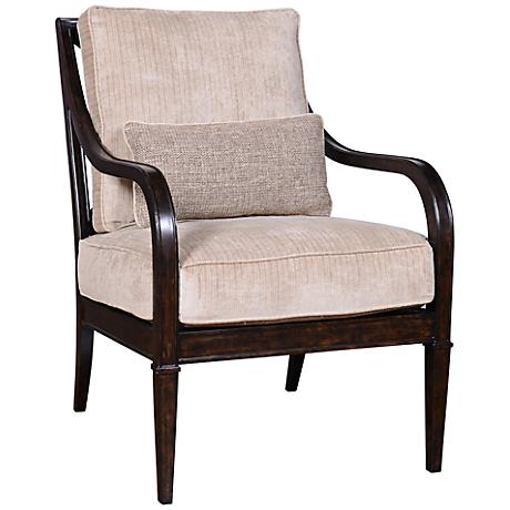 Blair Fawn Espresso X-Back Accent Chair