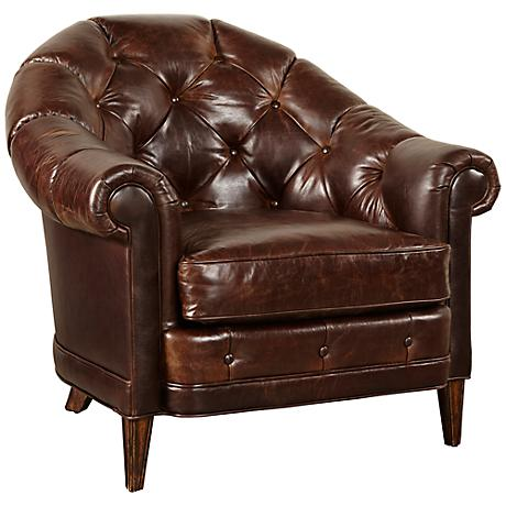 Kennedy Walnut Leather Armchair