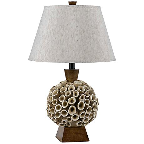 Rookwood Coral Amber Table Lamp