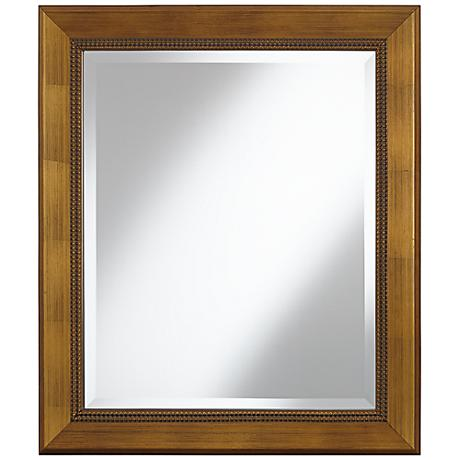 "Royston Dark Antique Gold 25 1/2"" x 29 1/2"" Wall Mirror"