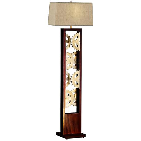 Nova Gears Root Beer Floor Lamp