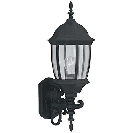 "Tiverton 21 1/2""H Clear Glass Black Outdoor Wall Light"