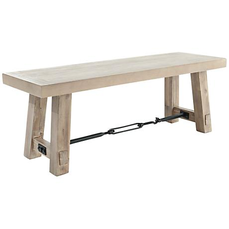 Carter Stone Wash Dining Bench