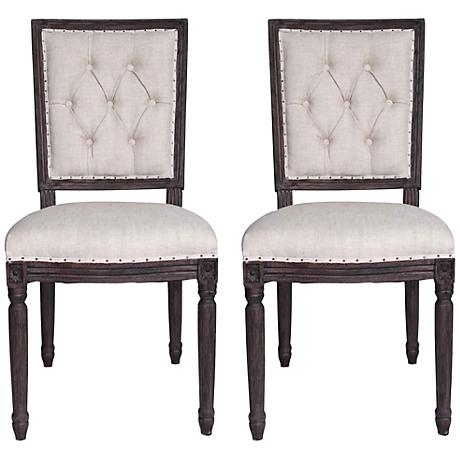 Set of 2 Elton Rustic Java Dining Chairs