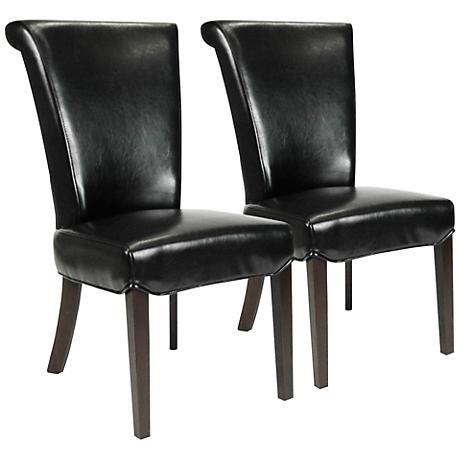 Set of 2 Sofie Havana Bonded Leather Dining Chairs