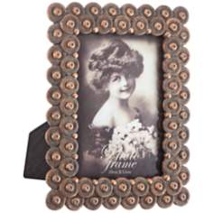 Maia Bronze Circles 4x6 Photo Frame