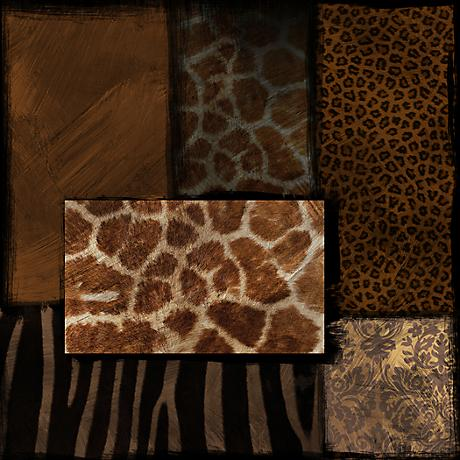 "Animal Print II 30"" Square Canvas Wall Art"