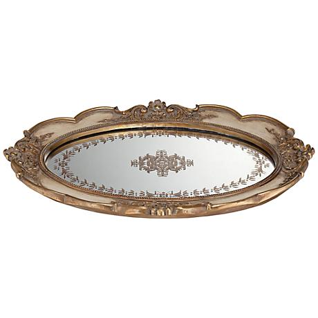 Iberia Gold Mirrored Decorative Tray