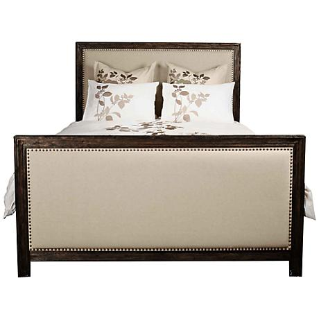 Traditions Rustic Java Upholstered Eden Bed