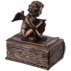 Angel with Lyre Bronze Decorative Box