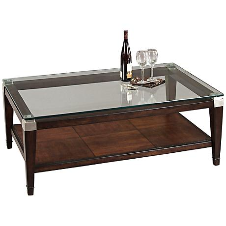 Dunhill Walnut Rectangular Cocktail Table