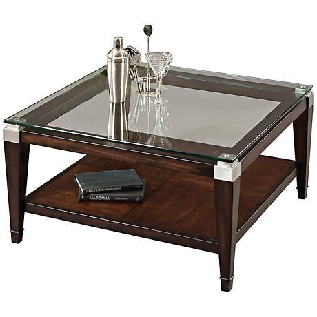 Dunhill Walnut Square Cocktail Table