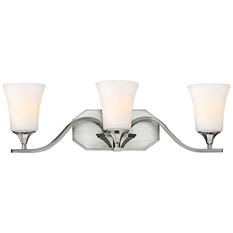 "Hinkley Brantley 24 1/4"" Wide Brushed Nickel Bathroom Light"