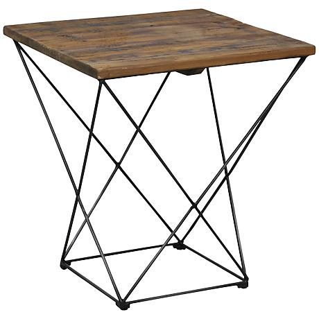 Benton Reclaimed Wood End Table