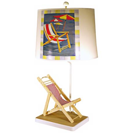 Natural Deck Chair Paul Brent Shade Table Lamp