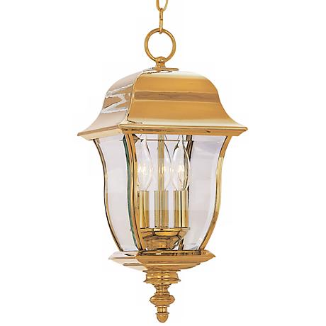 "Gladiator Collection 21"" High Brass Outdoor Hanging Lantern"